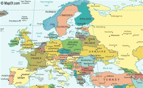 europe map including russia map of russia and europe maps europe maps