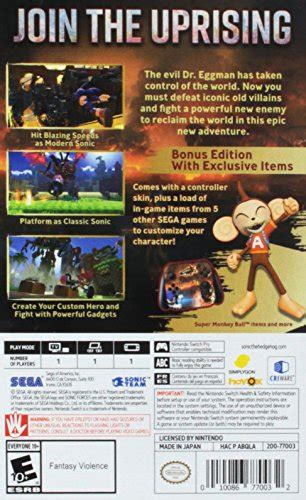 Nintendo Switch Sonic Forces Bonus Edition sonic forces bonus edition nintendo switch immitate