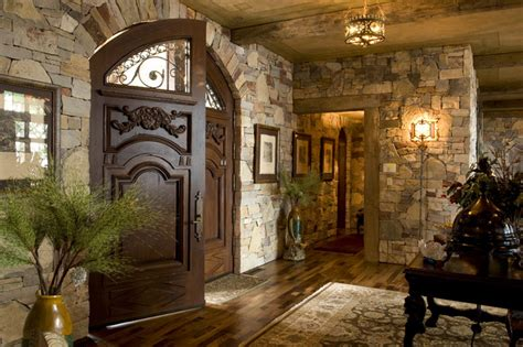 rustic entryway foyer rustic entry minneapolis by gabberts design