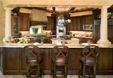 the kitchen collection inc sater s quot cordillera quot custom home plan mediterranean kitchen miami by sater design
