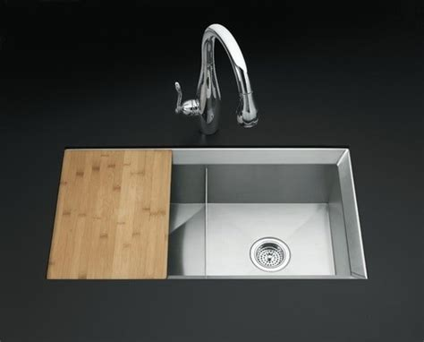 Kitchen Sink Cutting Board Poise Mount Equal Bowl Kitchen Sink Includes Cutting Board And Bott Modern Bath