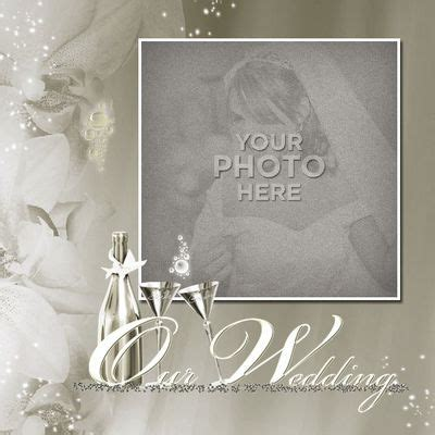 wedding scrapbook templates digital scrapbooking kits wedding template 1 magical