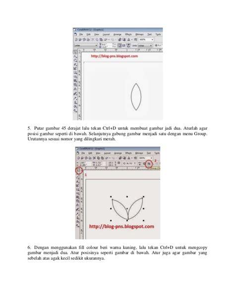 tutorial buat logo tutorial cara buat logo padi dan kapas