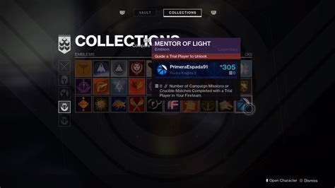 how to get light destiny 2 destiny 2 obtaining mentor of light emblem guide fextralife