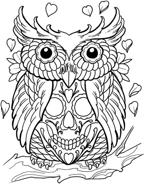 day of the dead owl coloring pages 203 best images about sugar skulls day of the dead