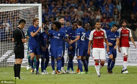 arsenal vs chelsea 2017 watch all the goals and highlights as chelsea demolish