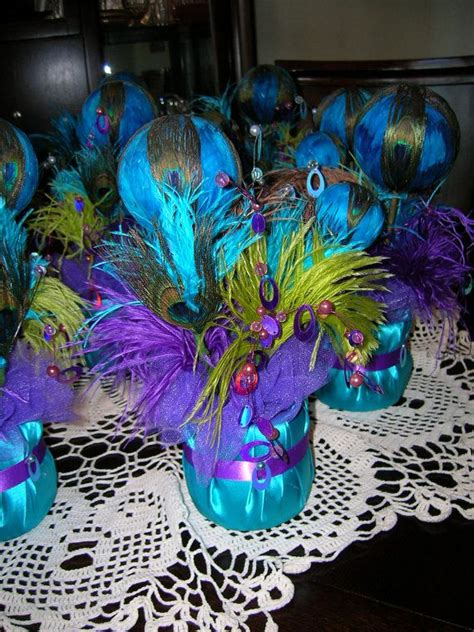 peacock centerpieces for weddings peacock wedding reception table centerpiece by sljbridal on etsy 30 00