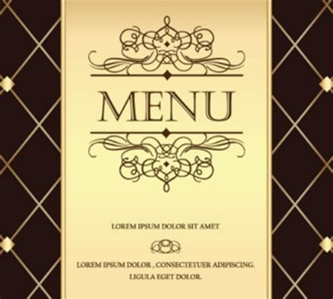 vintage menu template free vintage golden menu template vector 01 titanui
