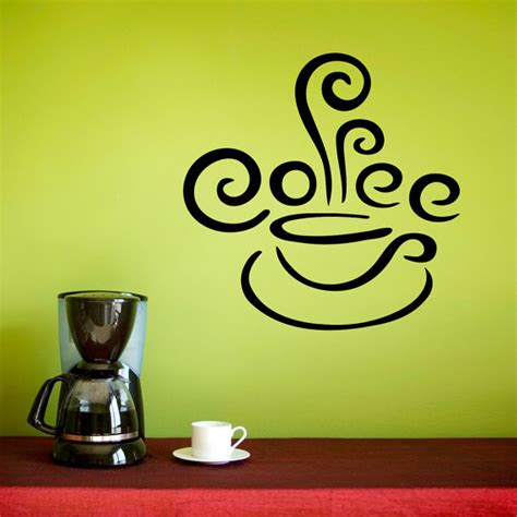 kitchen curtains coffee cup design coffee wall decal kitchen decor coffee cup decal with