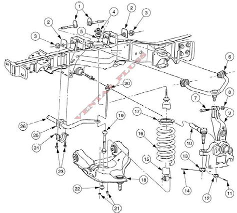 1996 ford ranger front suspension diagram ford ranger front suspension diagram