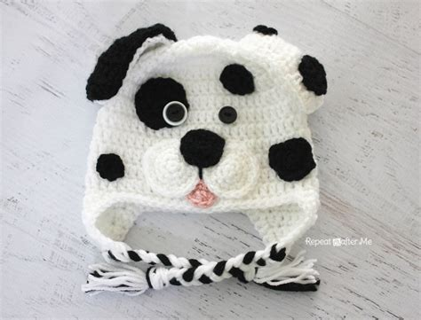 crochet puppy hat repeat crafter me crochet dalmatian pattern
