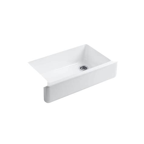 Kohler Kitchen Sink Racks Kohler Whitehaven Undermount Farmhouse Apron Front Cast Iron 36 In Single Basin Kitchen Sink
