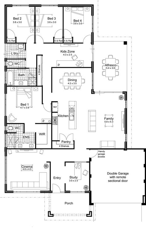modern house floor plans open floor plans for homes with modern open floor plans for one story homes 2d and 3d floor