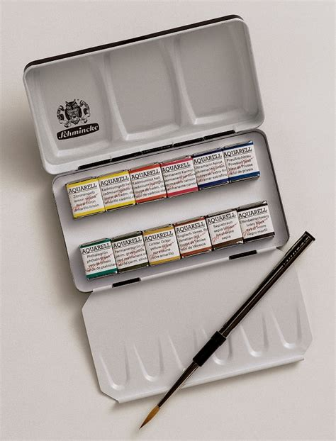 schmincke watercolor schmincke horadam finest watercolour paints 12 half