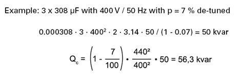 capacitor kvar meaning calculation formula for the capacitor