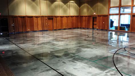 Elite Crete Reflector Epoxy   Basketball Court Gets Custom