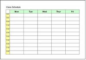 Class Calendar Template by School Schedule Template Schedule Template Free
