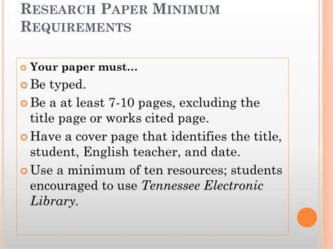 research paper requirements research paper requirements 28 images research paper