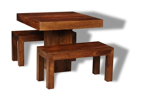 small dakota cube dining table 2 dining benches trade
