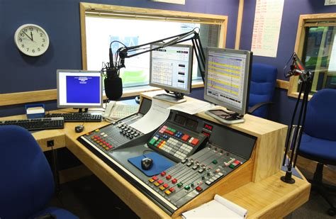 radio studio desk broadcast stations images gallery