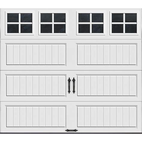Clopay Gallery Collection 16 Ft X 7 Ft 6 5 R Value Swing Out Garage Doors Home Depot