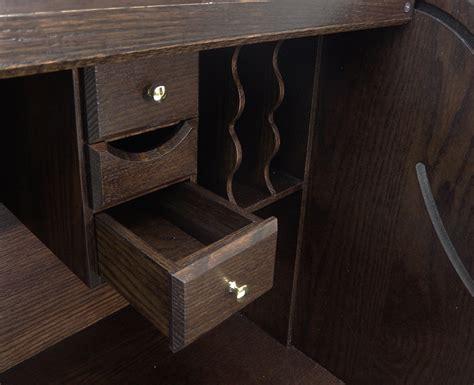 solid oak roll top desk 54 quot w deluxe solid oak laptop roll top desk