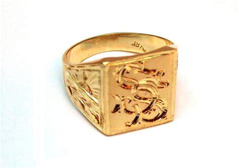 cadenas de plata con iniciales para hombres anillo sello macizo 9gr caballero con iniciales grabadas