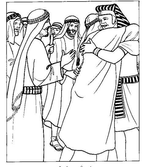 coloring sheets for joseph joseph greets his brothers in egypt bible coloring page