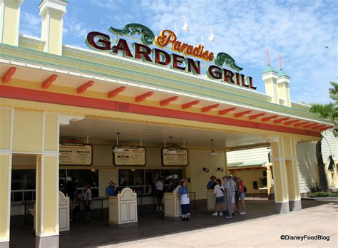 Garden Grill by Dining In Disneyland Paradise Garden Grill The Disney