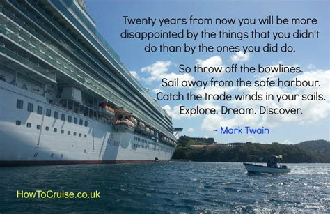 Crusie On Being A Quote by Quotes About Cruise Ships Quotesgram