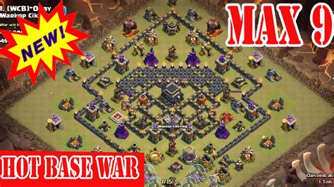 top base war th 9 coc 2015 clash of clans town hall 9 th9 best war base clear 3