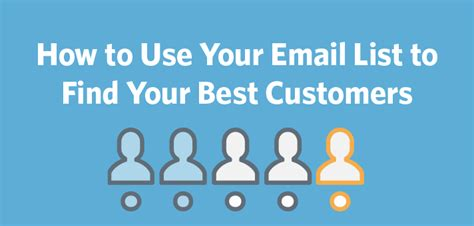 How To Find Using Email How To Use Your Email List To Find Your Best Customers Constant Contact Blogs