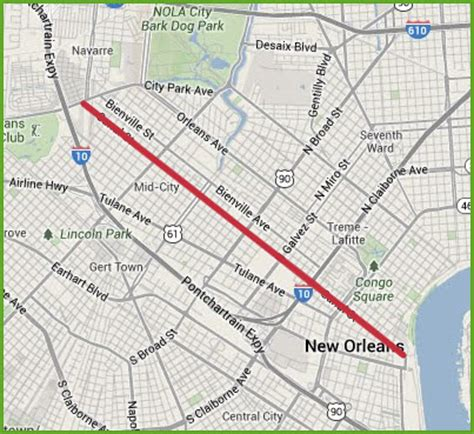 new orleans streetcar map new orleans streetcars