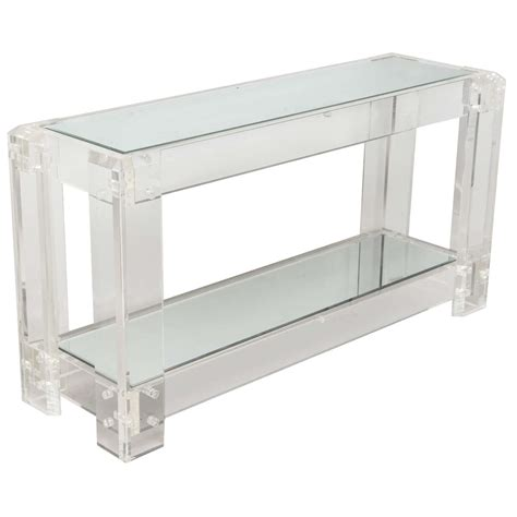 Lucite Console Table Lucite Console Table At 1stdibs