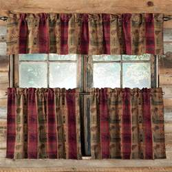 Cabin Kitchen Curtains Image Gallery Rustic Curtains