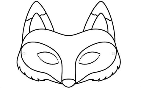 printable coyote mask fox clipart face mask pencil and in color fox clipart