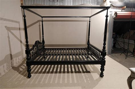antique canopy bed antique black four post canopy style bed at 1stdibs