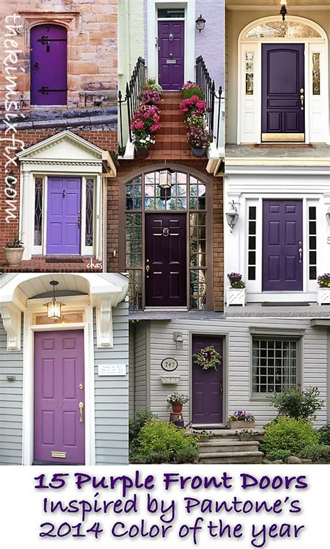 color trend 2014 radiant orchid 15 beautiful exterior doors the six fix