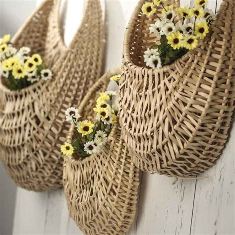 wall wicker baskets baskets buckets boxes home decor