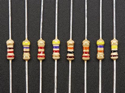 what is through resistor through resistors 220 ohm 100k ohm 5 1 4w packs of 25 id 2892 0 00 adafruit