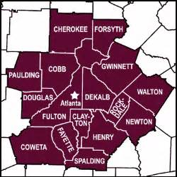 Atlanta Counties Map by Atlanta Georgia County Image Search Results