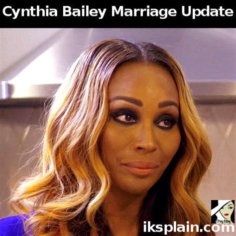 Atlanta Marriage Records Cynthia Bailey On Marriage To Not Iksplain