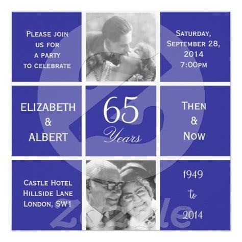 Modern Squares 65th Sapphire Wedding Anniversary Custom