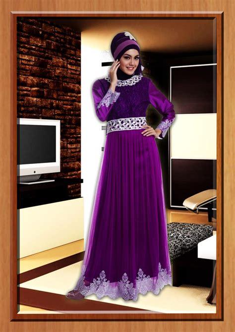 Balino Gamis Ungu cleopatra ungu baju muslim gamis modern