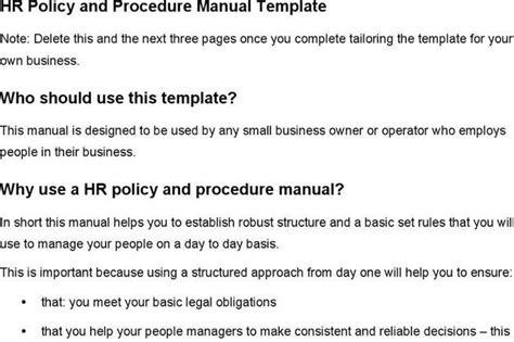 human resource manual template miscellaneous templates free premium