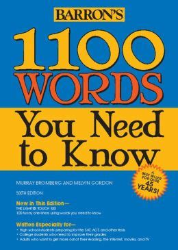 barron s 1100 words you need to by murray bromberg 9781438001661 paperback barnes noble