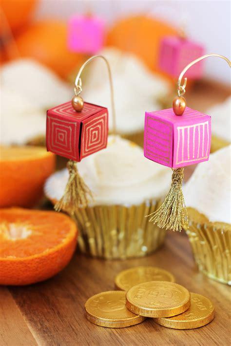 new year handmade lanterns diy paper lantern cupcake toppers orange