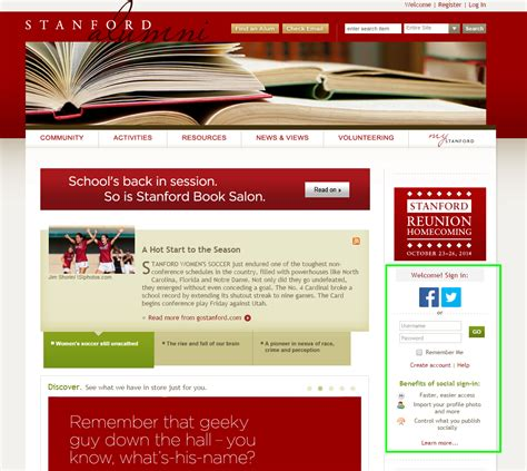 Time To Use Social Logins On Your Highered Websites Hesm Heweb Collegewebeditor Com Alumni Association Website Templates Free