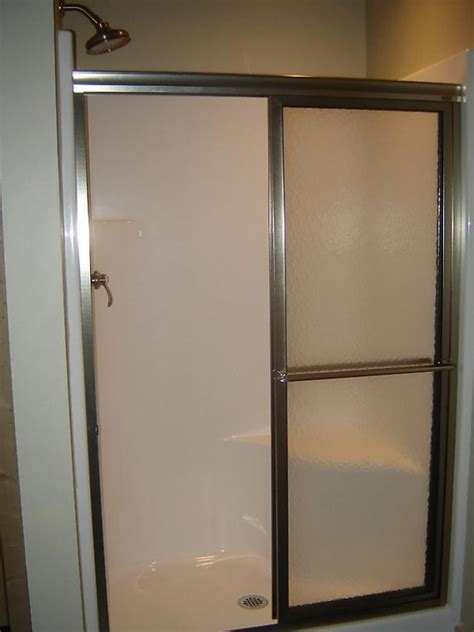 Install A Shower Door How To Install A Shower Door On A Prefab Shower How Tos Diy