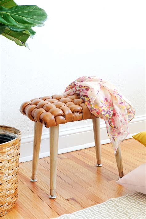 woven leather chair diy diy woven leather stool sugar cloth